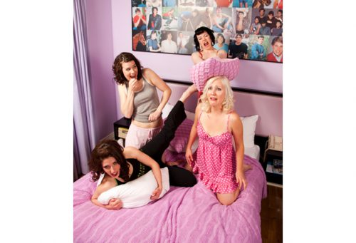 Slumber party! We enjoy our comedy.