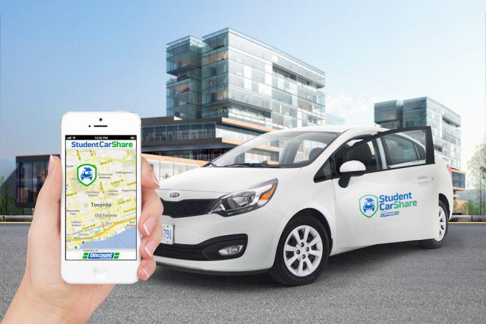 Landscape portrait promoting launch event for Student Car Share.