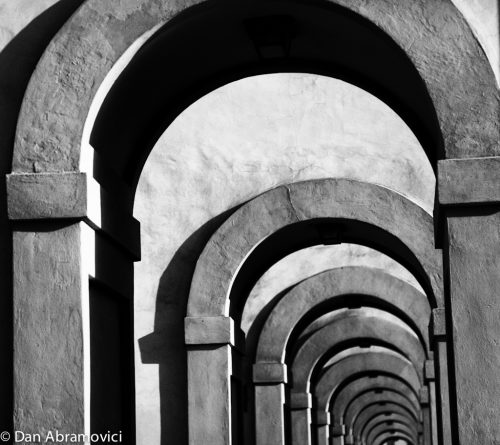 Florence Bridge Arches BW