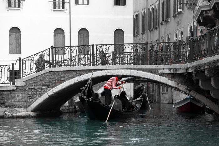 Artistic landscape photograph promoting Italy.