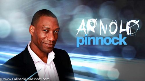 Professional headshot of Arnold Pinnock from the Royal Canadian Air Farce.