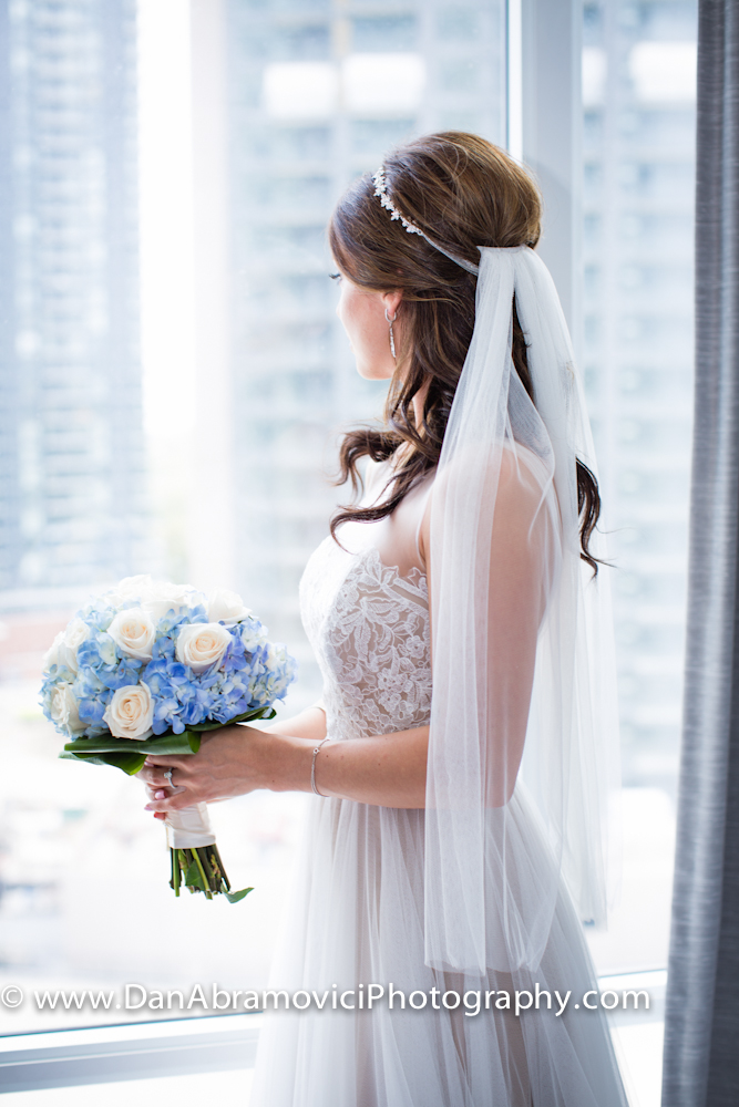 Beautiful artistic portrait of a bride ready for her wedding.