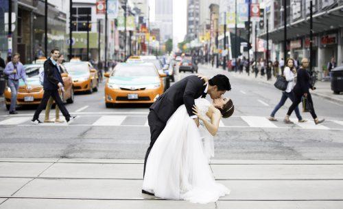 Dundas Square Wedding – On Location Wedding Photos