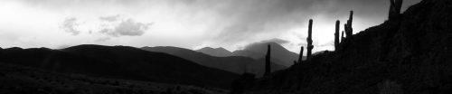 Moody evening scenic hills