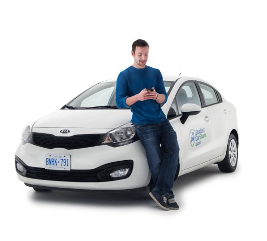 Professional portrait as part of launch event for Student Car Share.