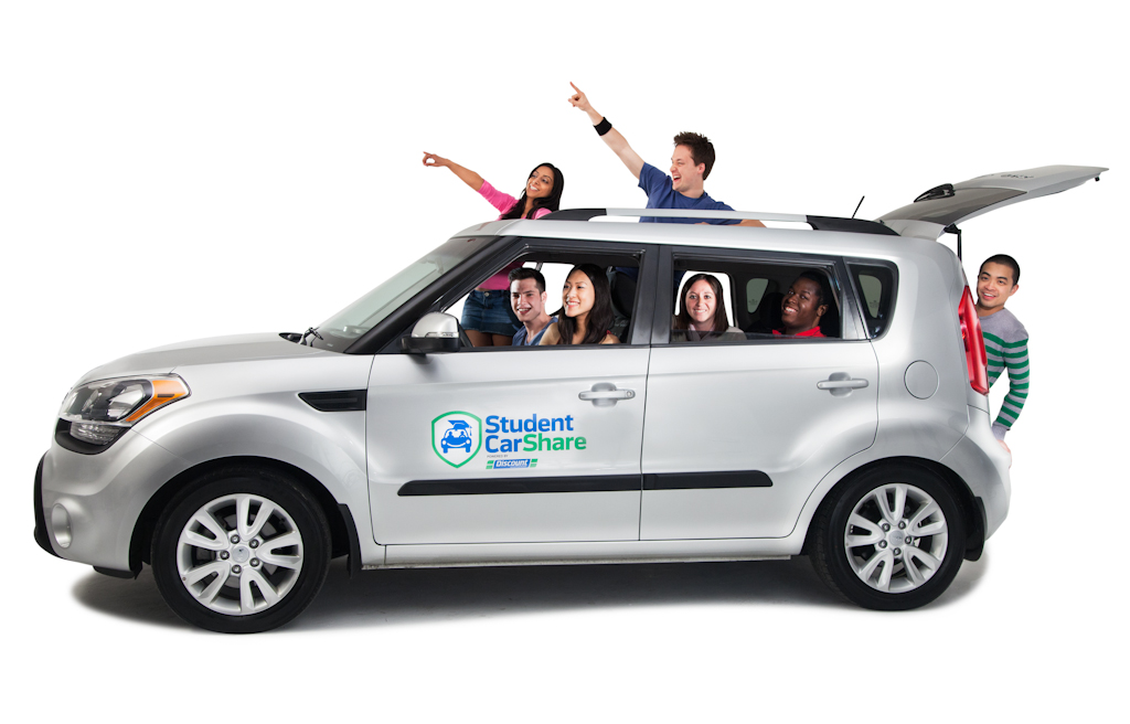Promotional portrait for the launch event of the Student Car Share.