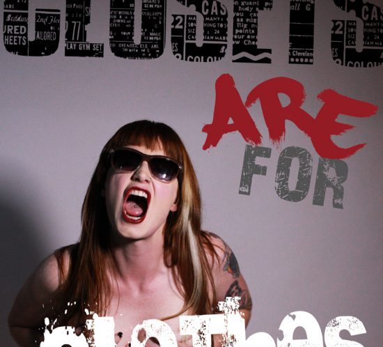 Artistic photograph of a woman promoting a PRIDE event.